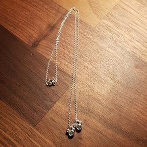 Disney Mickey ears charms necklace